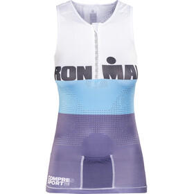 Compressport TR3 Top sin Mangas de Triatlón Edición Ironman Mujer, stripes grey